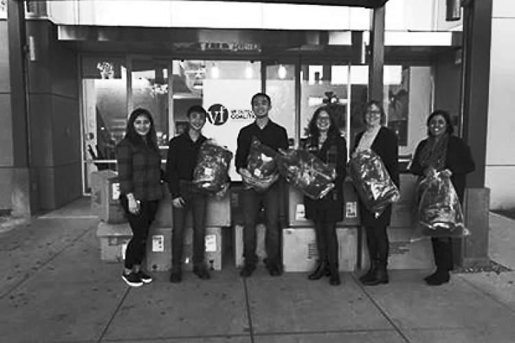 City of Alameda &nbsp&nbsp Left to right: Arlene Dirige (VF Outdoor), Patrick Nguyen, Andrew Nguyen, Mayor Trish Spencer, Debbie Potter (Alameda Community Development Director) and Patty Pierce (VF Outdoor).
