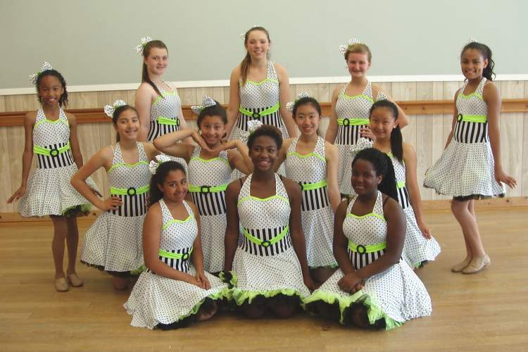 Courtesy photo - Among the performers in this year's West Coast Dance production are, back row, left to right: Alexandria Esplana, Talia Grumet, Mary Archibeque, Ella Phillips and Isabella Ibarra; center row, left to right: Zoe DeGuzman, Hadassah Zenor-Davis, Samantha Woo and Jessica Woo; front row, left to right: Javia Anderson, Caitlyn Freeman and Kaiya Smith.