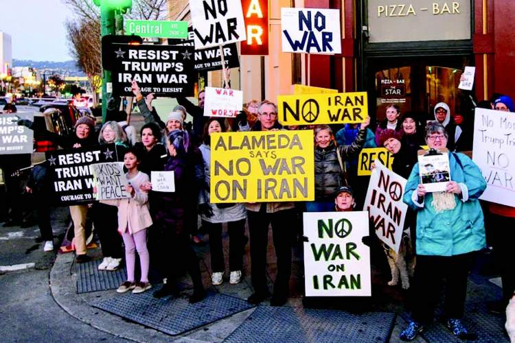 On Jan. 9, approximately 60 Alamedans gathered downtown to express opposition to any U.S. escalation of hostilities toward Iran after missile strikes transpired on each side. The anti-war vigil was one of more than 350 held nationwide