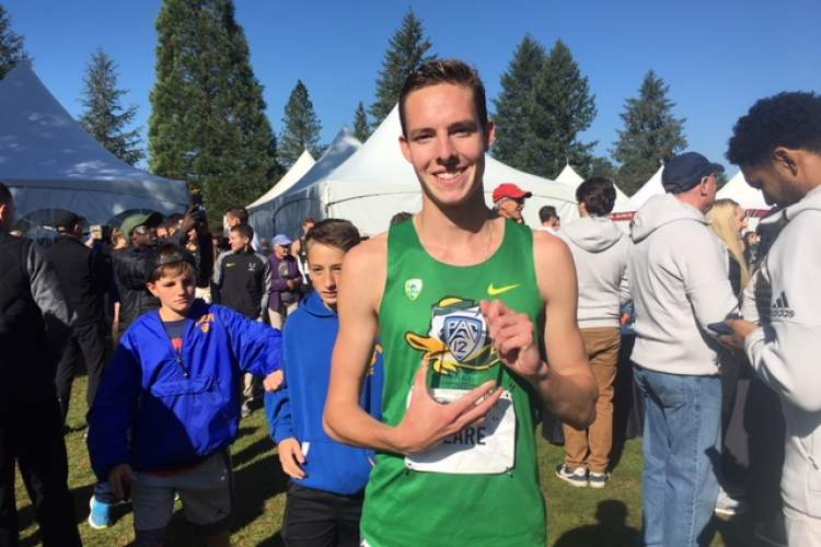 Conrad J. Branson &nbsp&nbsp SJND alum Cooper Teare finished eighth and was the top freshman at the Pac-12 Cross-Country Championships on Oct. 27 at the Springfield Golf Club in Springfield, Ore.