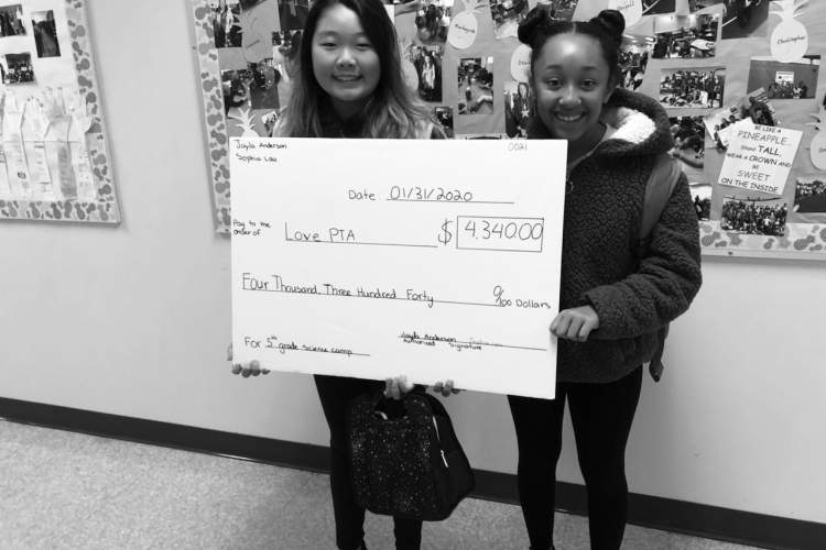 Courtesy photo &nbsp&nbsp Jayla Anderson (left) and Sophia Lau planned and executed a bake sale that raised more than $4,000 for their fellow students.