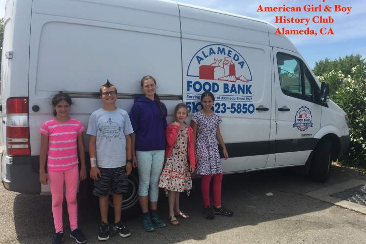 Courtesy photo &nbsp&nbsp Members of a 4H club based in Alameda created a food drive based on the story of Depression-Era Kit Kittredge, an American Girl doll.