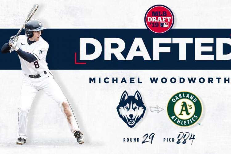 Courtesy image &nbsp&nbsp Alameda High School graduate Michael Woodworth's parents posted this graphic on social media shortly after hearing the Oakland A's had drafted their son.