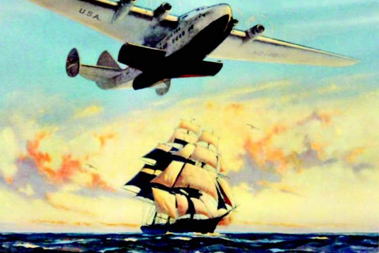 A clipper ship is a three-masted, full-rigged ship built for speed. Pan Am borrowed the name of this sea-going vessel when it christened its fleet of airplanes.