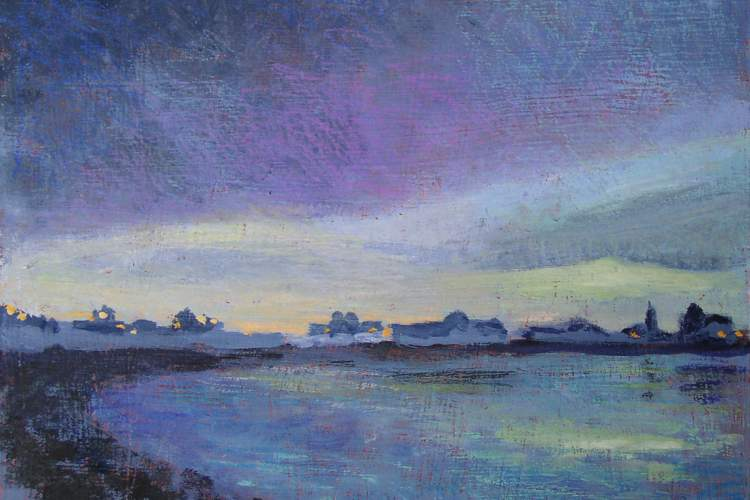 "Courtesy photo &nbsp&nbspRenee Doty's ""Twilight at Crab Cove"" will be on display as part of a new gallery opening at Eyewise Optometry tomorrow night."
