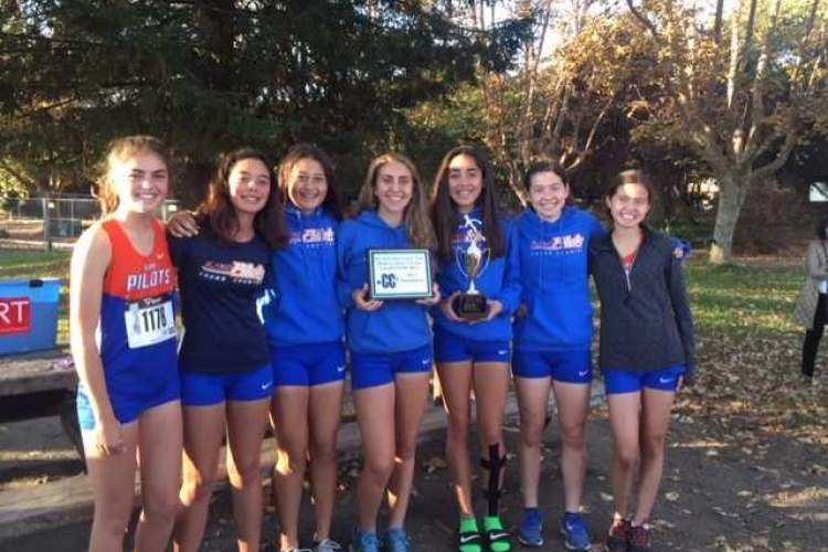 Courtesy photo &nbsp &nbspThe St. Joseph Notre Dame High School Pilots women's cross country team took third place in post-season racing at Hayward High School last week.