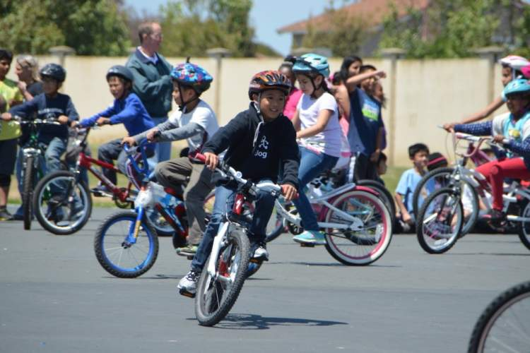 Courtesy Alameda County Safe Routes to School &nbsp&nbsp At the skills-and-drills bicycle rodeo, kids to learn confidence and ability while riding a bike.