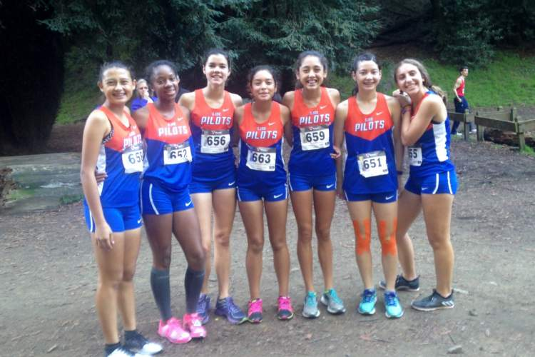 Corinne Hayhurst  Members of the St. Joseph Notre Dame women's cross country team include, from left to right: Danielle Perez, Zhane Duckett, Kiera Marshall, Araceli Zavala-Sheridan, Emily Perez, Maia Chareonsuphiphat and Beatrice Levy.