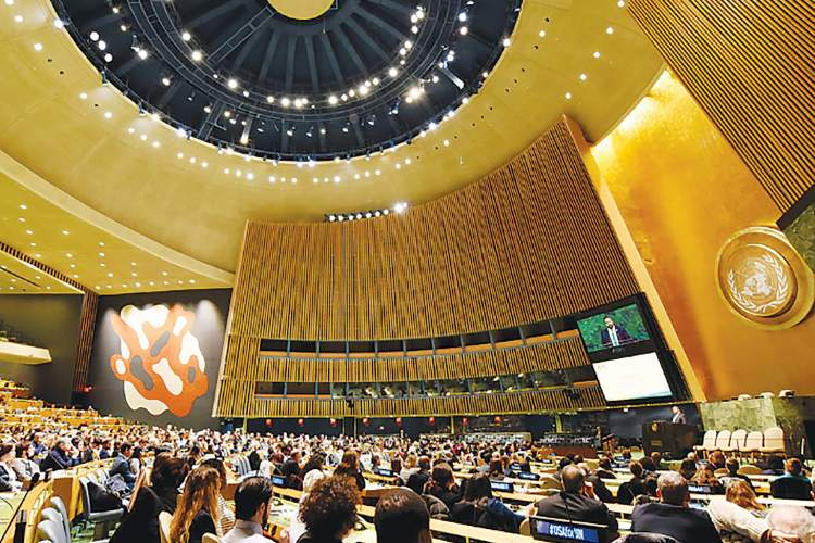 Courtesy photo &nbsp&nbsp An Alameda high school senior will join a discussion of global issues in the General Assembly Hall of the  United Nations this Saturday.