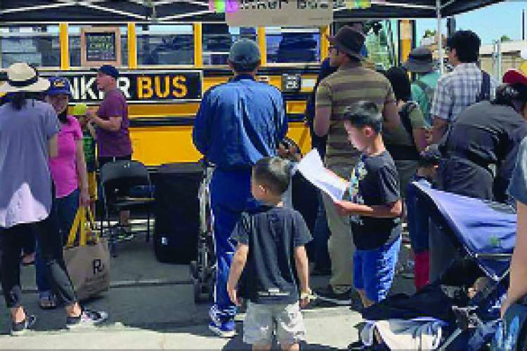 File photo &nbsp&nbsp Quite the hit last year, the Tinker Bus will make another appearance at this year's Mini Maker Faire at Alameda Point set for Sunday, Aug. 11.