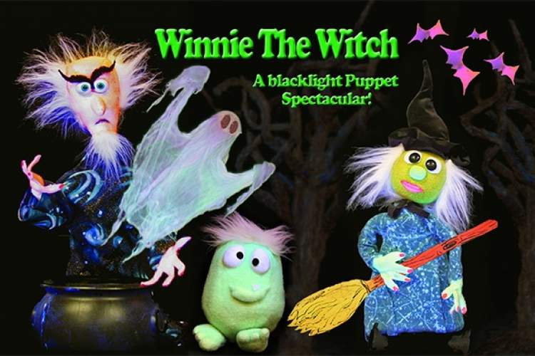 Courtesy photo  Winnie the Witch will visit the Alameda Free Library on Wednesday, Oct. 25. The Halloween-themed blacklight puppet show for kids starts at 7 p.m.