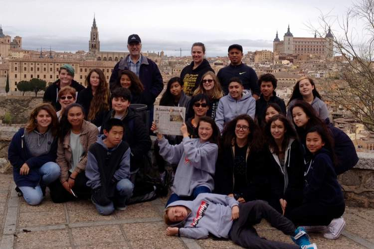 Romeo Ponsaran  The Alameda Sun shines on the city of Toledo, Spain, thanks to the Wood Middle School students who traveled there in March.