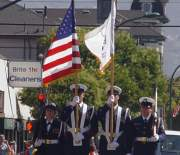 The Color Guard leads each parade