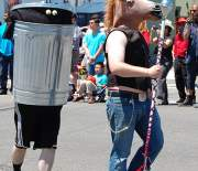 Mr. Garbage Can Man and Friend