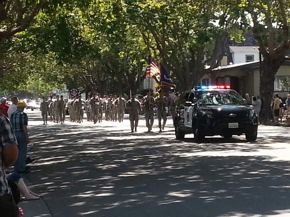 A military presence is often felt