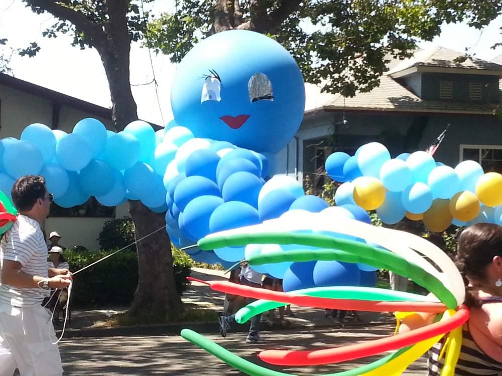 Some balloon octopus