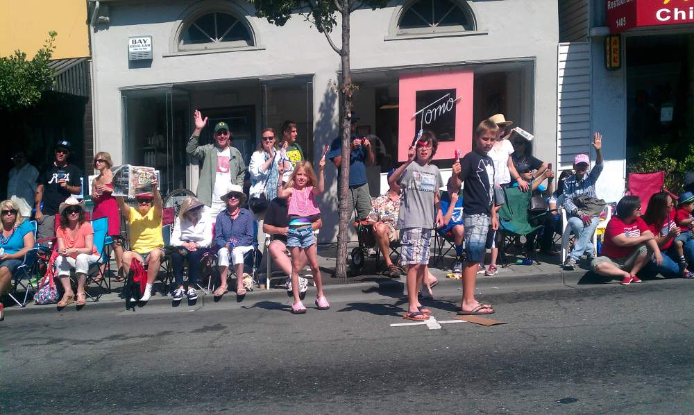 spectators on the parade route