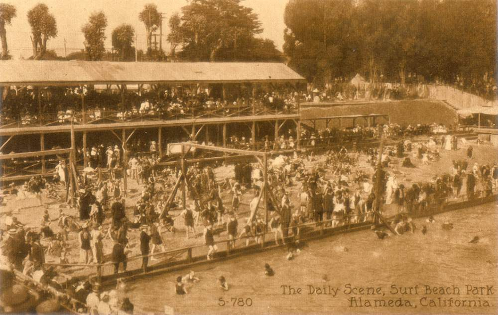 The daily scene at Surf Beach Park.