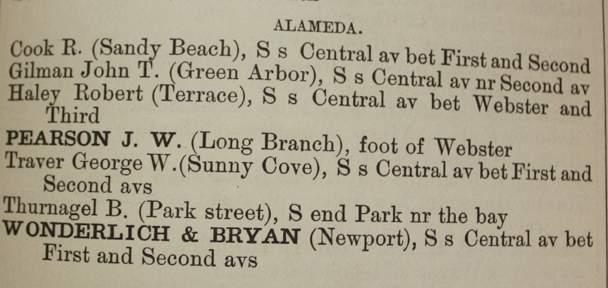 Early phone books listed Alameda's bathing resorts.