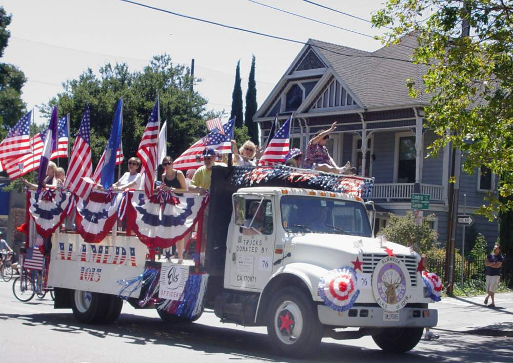 The Elks Lodge often has a patriotic display