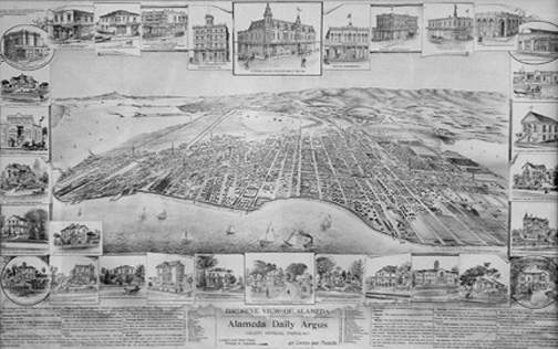 The Alameda Argus released this map of Alameda in 1888.