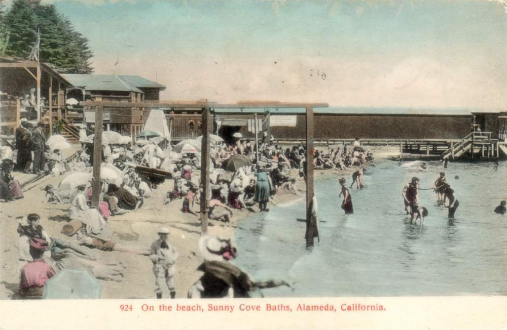 A scene from Sunny Cove baths