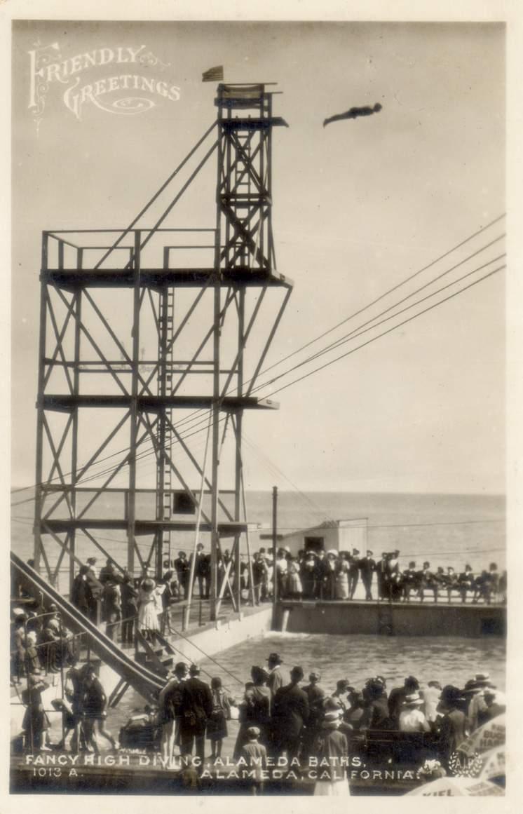 The high dive platform at Neptune Beach.