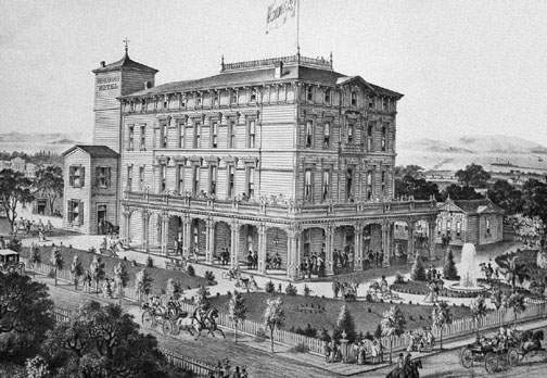 Kohlmoos Hotel went up to provide Alameda's visitors a place to recreate.
