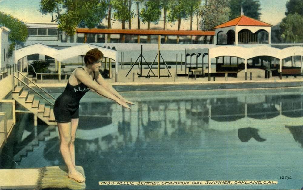 Nellie Schmidt was known as Alameda's Mermaid