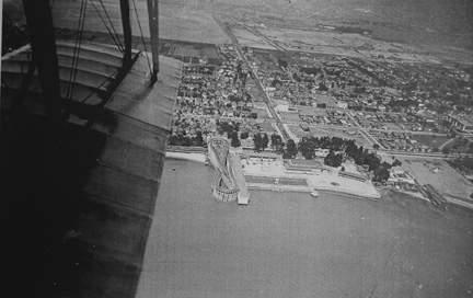 Neptune Beach 1920 from biplane