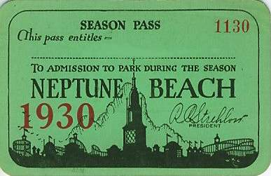 To access Neptune Beach one needed a season or day pass.