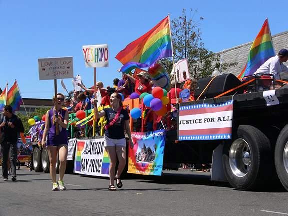 Alameda's Gay Pride Float