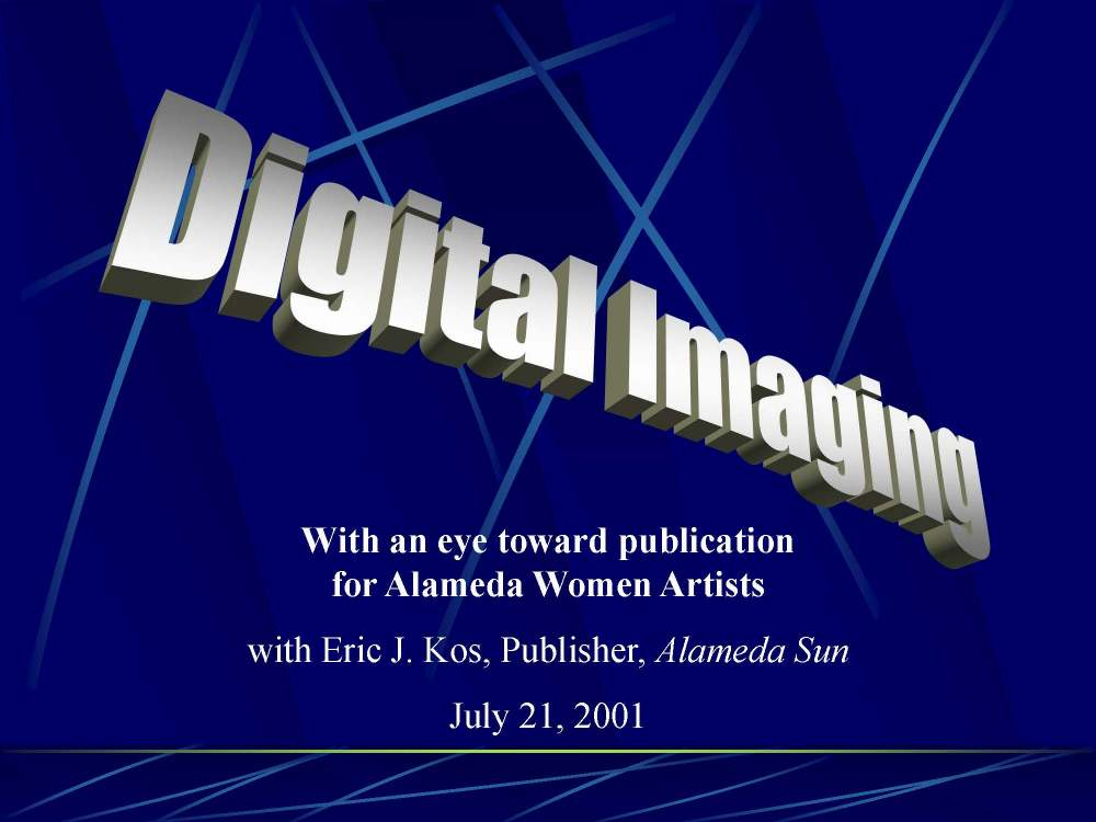 A presentation on digital imaging with an eye for publishing.