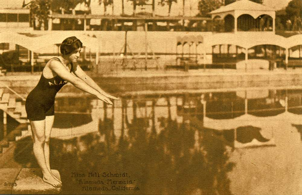 "Alameda's Mermaid, Nellie Schmidt, is a central figure in ""Alameda's Lost Baths."""