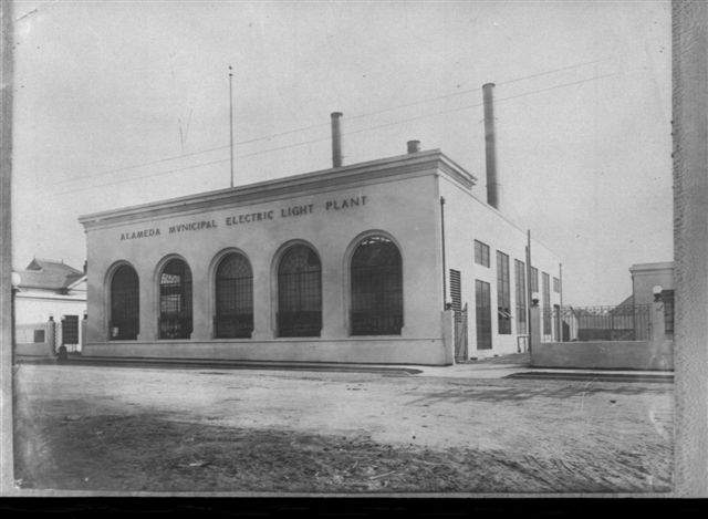 "Alameda's 1877 electric plant features prominently in ""The History of Alameda's Utilities."""