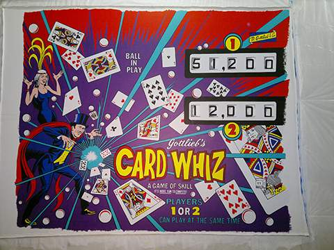 A hand-painted 10.5' x 10' acrylic on canvas mural by Eric J. Kos for the Pacific Pinball Museum. Eric can help in the production of large graphics.