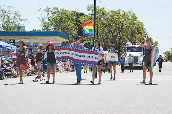 Alameda's Pride Float. Photo by Adam Gillitt