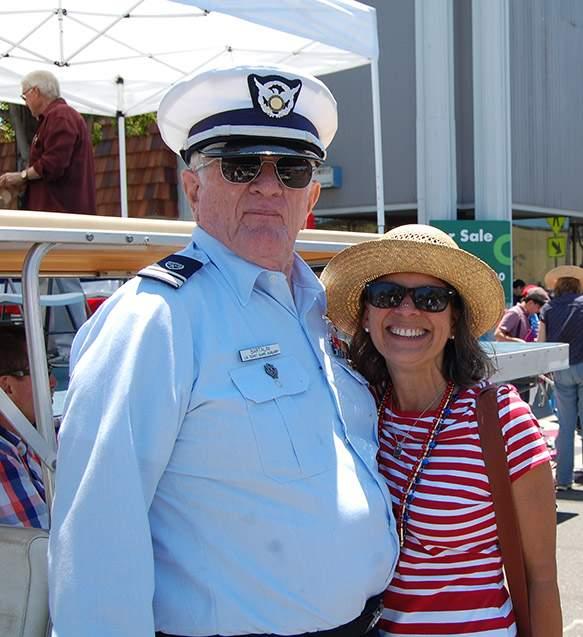 Parade Grand Marshal Richard Bartalini with Mayor Trish Spencer