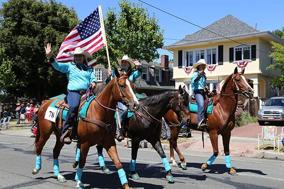 Equestrians in teal by Kevin Francis Barrett