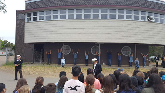 Dancers used a former military training facility as a stage.