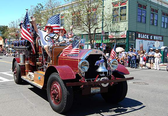Antique fire truck from Alameda Fire Department