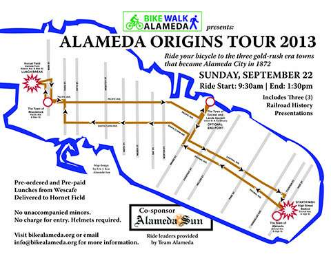 Dennis and Eric teamed up with Bike Walk Alameda to produce bicycle history tours.