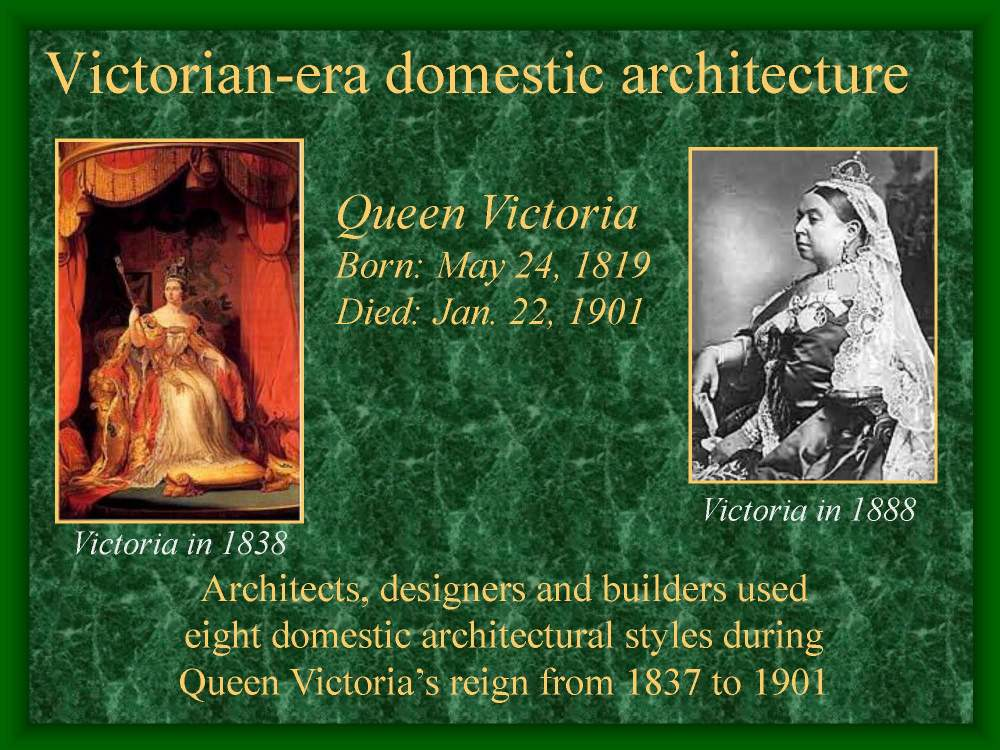 One of two presentations discussing Victorian-era architecture.