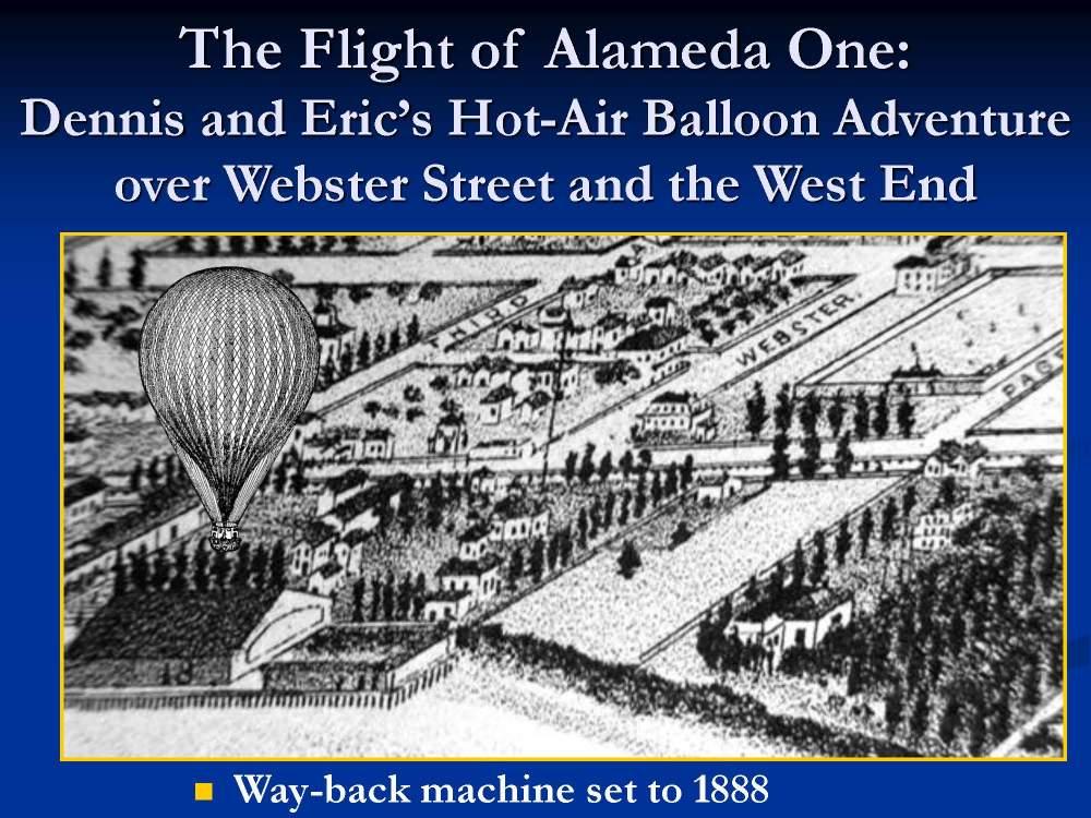 A presentation focused on Webster Street's history.