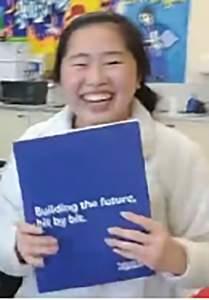 2585197c79 Still from courtesy video  nbsp nbsp Alameda High School senior Ashley Chu  overwhelmed with joy shortly after