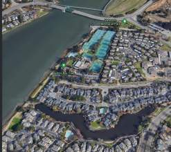 Google Earth &nbsp&nbsp An EBMUD electrical failure caused raw sewage to seep into the lagoon pictured above. This small body of water is located south of the Harbor Bay Club along Purcell Drive. An EBMUD electrical failure prevented the sewage from flowing through city pipes and on to the treatment plant in Oakland.