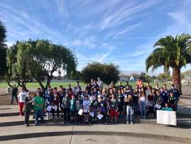 Courtesy photo &nbsp&nbsp Alameda students recently made an effort to educate their neighbors about the dangers of tobacco-flavored products.