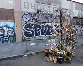 Dennis Evanosky &nbsp&nbsp The Ghost Ship warehouse still stands on 31st Avenue in Oakland with a memory tree crafted to resemble a weeping willow. Mourners still leave mementos on or beneath this symbolic tree.