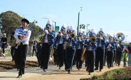 """Dennis Evanosky &nbsp&nbsp  Encinal High School's """"Marching Jets"""" band was among the first on the trail that now stretches from Jean Sweeney Park to Main Street."""