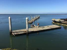 Irene Dieter  Crews with the Water Emergency Transport Authority removed an old dock harbor seals had been using as a haul out Monday. A new dock has been constructed so the seals haul out at a safer location.